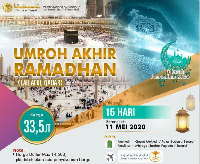 Paket Umroh Akhir Ramadhan 2020