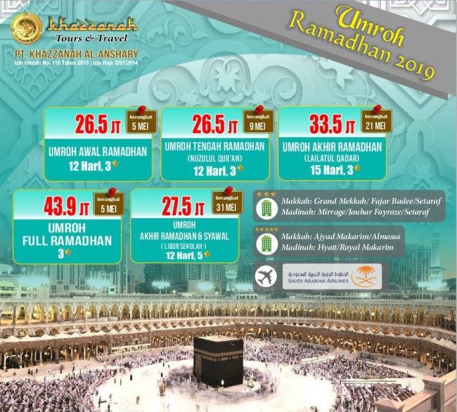 Paket Umroh Ramadhan 2020