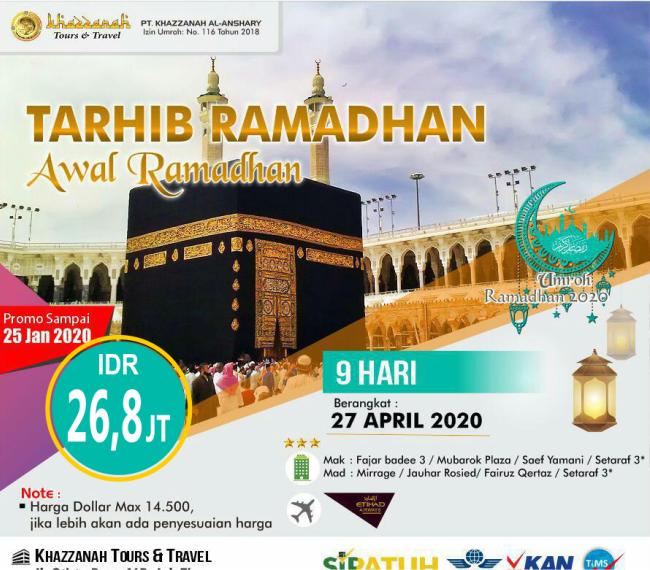 paket umroh ramadhan bulan april 2020