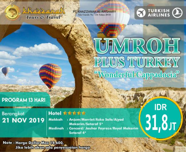 Paket Umroh November 2019 Plus Turki
