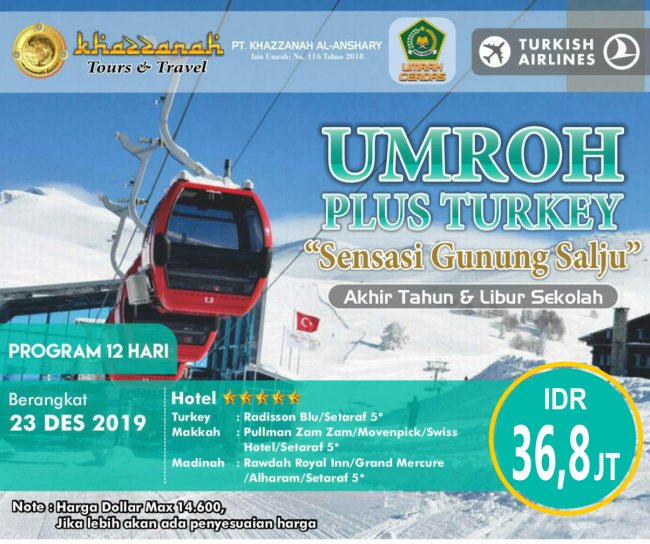 Umroh Plus Turki 2019