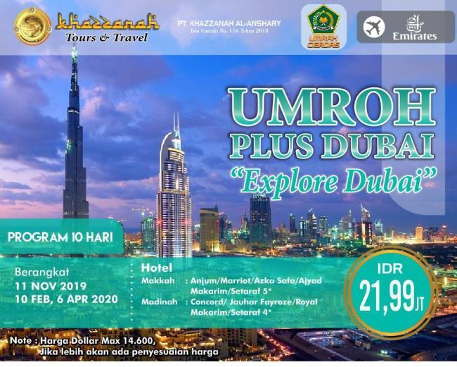 Paket Umroh Plus Dubai 2020