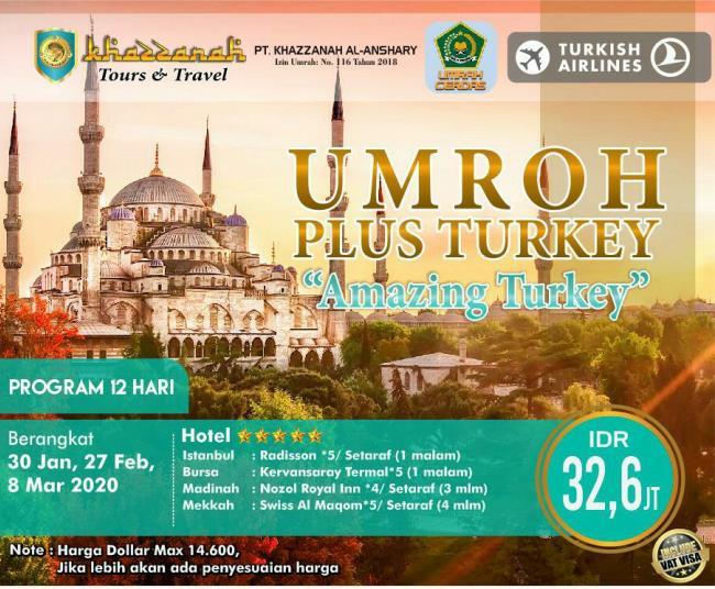 Paket Umroh Plus Turki