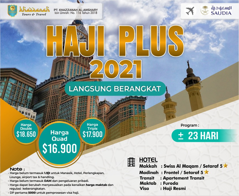 Paket Haji ONH Plus 2021