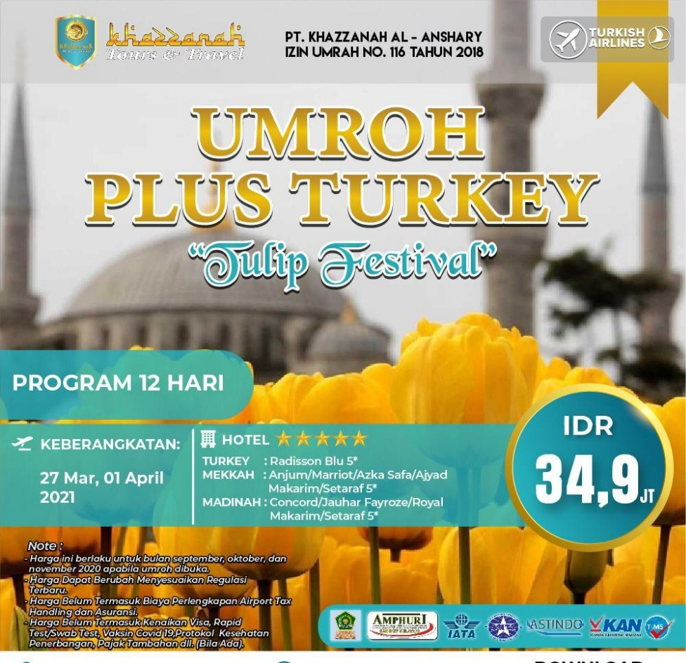 Biaya Umroh Plus Turki 2021