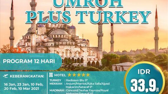 Paket Umroh Plus Turki 2021 Cinta Suci
